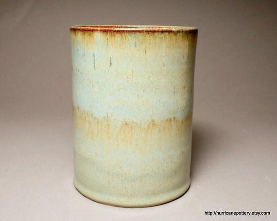 Ceramic Kitchen Utensil Holder Hand Thrown Tool Caddy