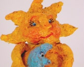 Sun, Sun Sculpture, Whimsical Art,  Mixed Media,  Handmade OOAK, Home Decor, Kid's Room Art