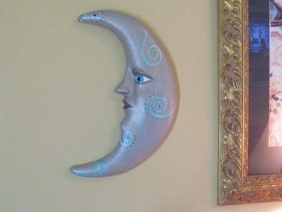 Moon Face   By the Light  of the Silvery Moon Wall Decor