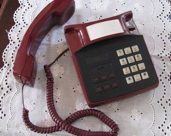 Ruby red working 1980s phone