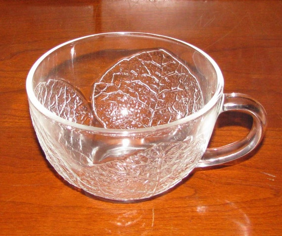 French Arcoroc aspen pattern punch cups