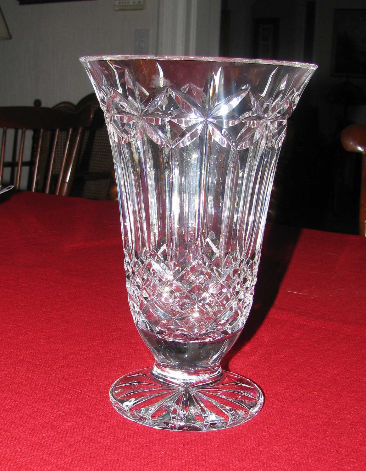 Waterford Starburst Lead Crystal Vase Reserved By Myparentsattick