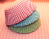Cupcake Liners Picnic Checks with Flags