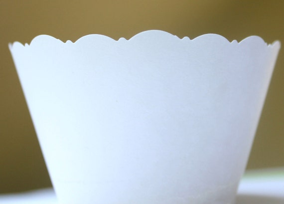 Reserved for Iveatch1 250 White Cupcake Wrappers for Weddings, Showers, Celebrations