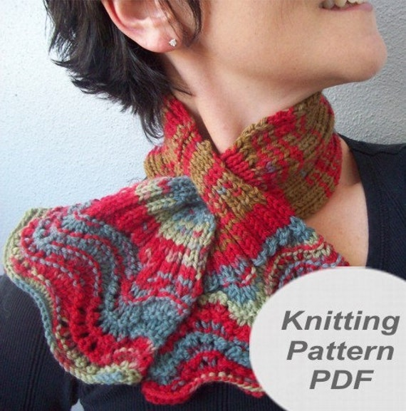 Knitting Pattern For Scarflette : Sassy Scarflette knitting pattern pdf made with one by ...