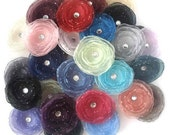 Pick 2 Organza Hair Clips 34 Colors to Choose From