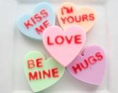 Conversation Hearts Five Valentine Soaps