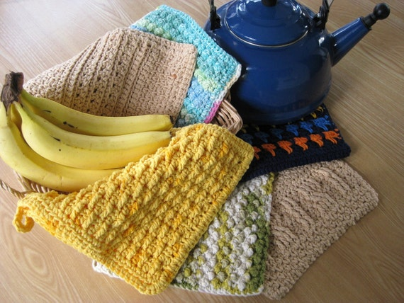 Dish Cloth/Wash Cloth Bonus Bundle 6 Crochet Patterns for the Price of 4