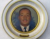 Vintage Rev. MARTIN LUTHER KING, Jr. Memorial Metal Wall Plaque