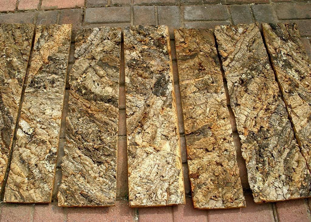 Vintage Lot Of 7 Portuguese Natural Virgin Cork Bark Panels
