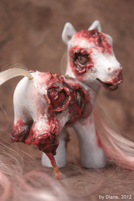 Bloody Heart - a Custom Zombie My Little Pony - Gore  Horror Collection Toy - Whoa Team