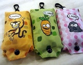 Original Painting Animal-vegetable-mineral Foldable Shopping / Grocery Bags (Set of 3)