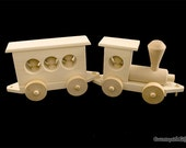 Wooden Train - Large Hardwood Natural Train - 2 Cars