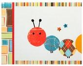 Billie the Caterpillar, Set of 3 Prints