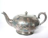 Vintage Silver Teapot. 5 Cup Silver Teapot . Australian Teapot. Australian Design. 1950s. Patina. Prop. Tea Party. Collectors.