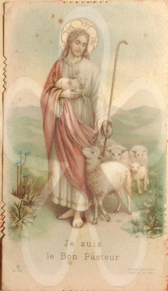 Papergoods. Vintage. Antique. Italian Holy Card. Vintage Supply. Religious. Italian Paper Ephemera