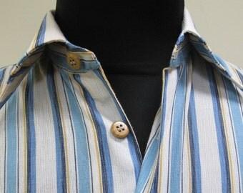 Shortsleeved Striped Sports Shirt - 1970's