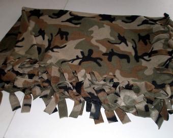 Camouflage Fleece Small Throw
