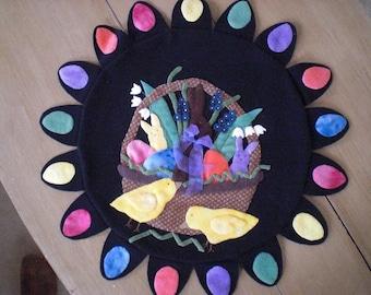 Easter Wool Penny Rug