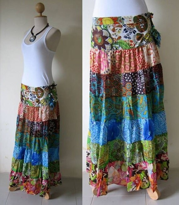 Beautiful Long Bohemian Skirt Very Chic