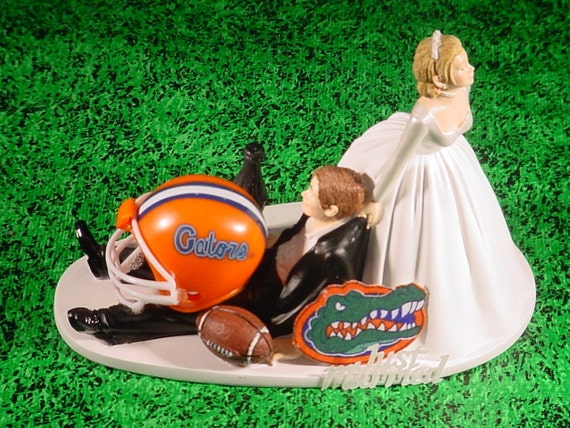 florida gator wedding cake toppers florida gators college football fan sports wedding cake topper 14326