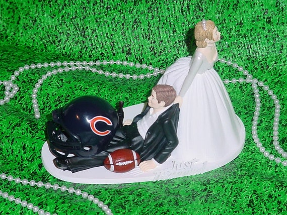 nfl wedding cake toppers chicago bears football nfl fan groom wedding cake topper 17840