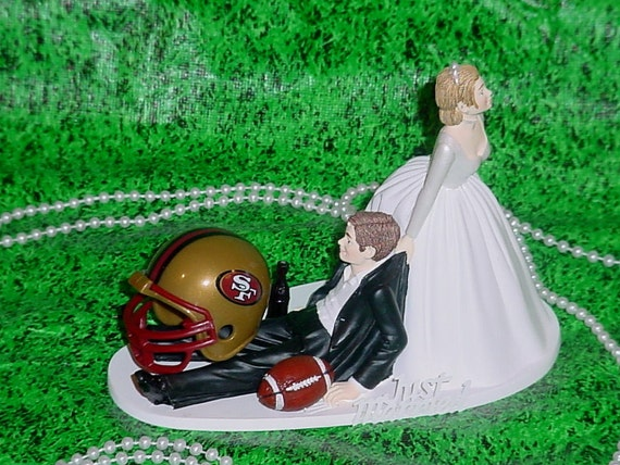 nfl wedding cake toppers san francisco 49ers football fan sports wedding by 17840