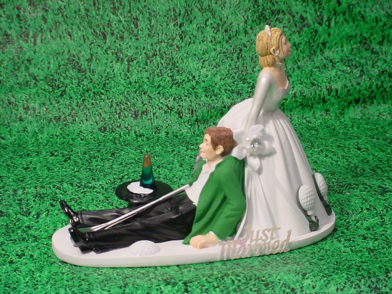 No GOLF Bride and Groom Wedding Cake Topper Funny Weddings Mr