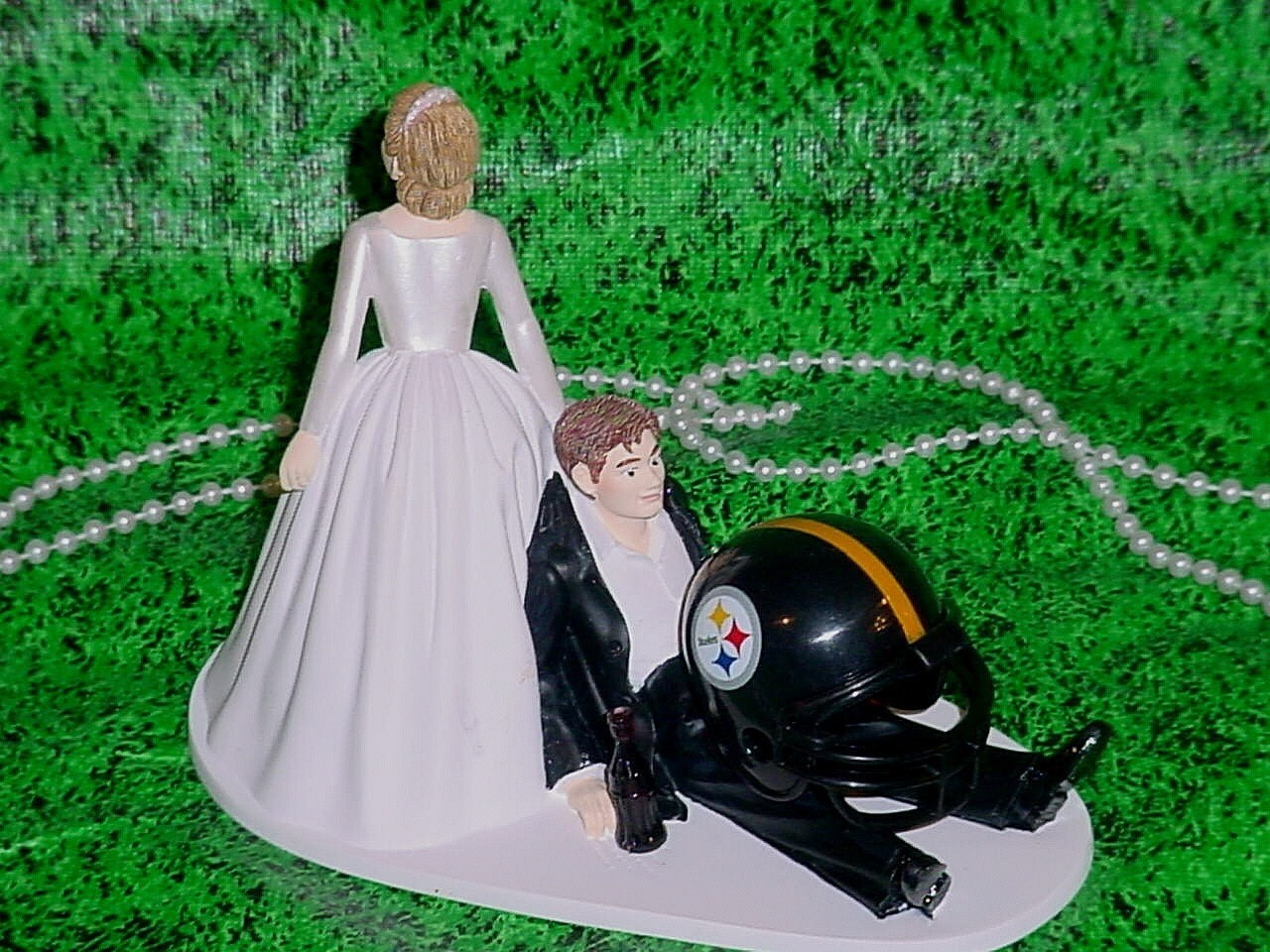 Pittsburgh Steelers Football Sports Couple Bride by
