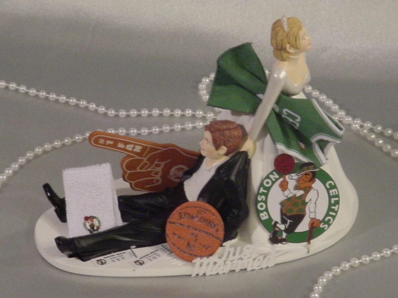 Boston Celtics Sports Fan Basketball Bride Pulling Groom Fun