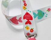 YOU CHOOSE CLIP - Tropical Fish Round Clip Pacifier Holder