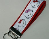 Hello Kitty on Red Wrist KeyChain / Wrist Fob