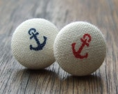 Mismatch Nautical Anchor Earrings