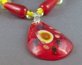 Clearance - Standout Red and Yellow Necklace Set