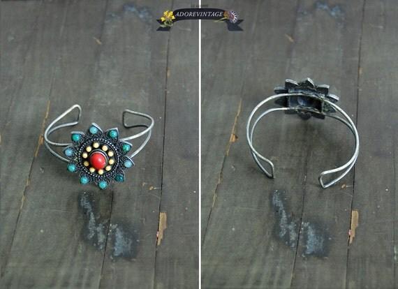 vintage navajo bracelet / vintage 1970s boho bracelet
