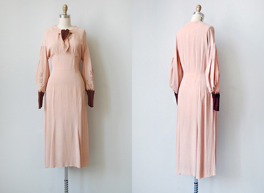 vintage 1930s hollywood starlet dress | BROADWAY MELODY DRESS