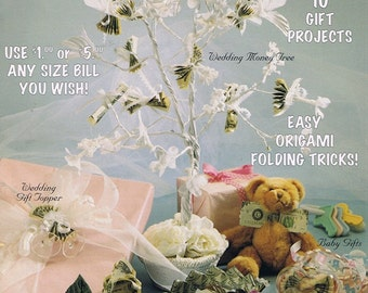 Best Wishes and Riches Money Gift Roses Fans Bows Tie Bridal Garter Tree Origami Learn How To Make Fold Craft Pattern Leaflet 16178