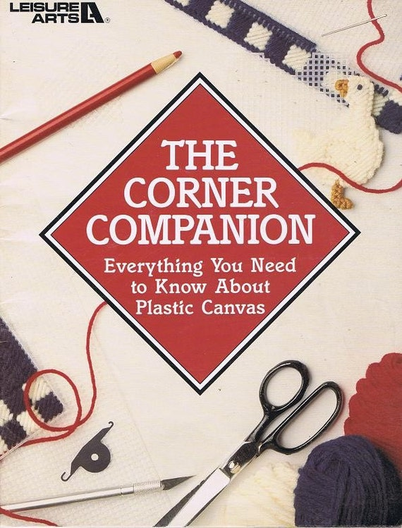 Corner Companion Everything You Need To Know About Plastic Canvas Learn How to Use Make Stitches Craft Pattern Leaflet