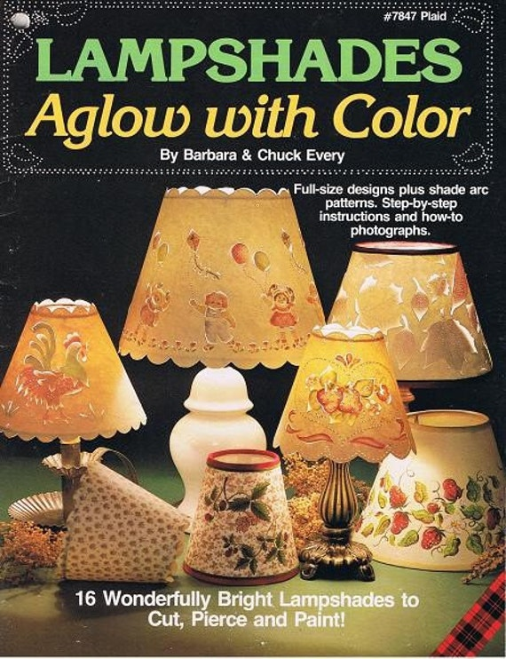 Lampshades How to Paint Craft Patterns Leaflet