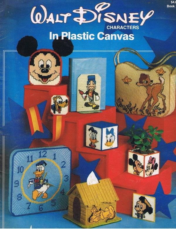 Walt Disney Characters In Plastic Canvas Craft Pattern Leaflet