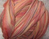 Merino  Wool Roving - Hollyberry-8oz