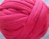 Merino Wool Roving, Wool Roving, Merino Wool Roving, Roving for felting and spinning,  - Cinnabar - 8oz