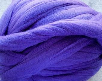 Merino Wool Roving, Merino Wool, Wool Roving, Merino Roving, Felting Wool, Violet wool roving, 8oz