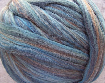Roving Merino Multi Color Wool - Denim - 8oz
