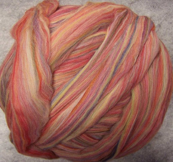 Merino  Wool Roving - Hollyberry-8oz