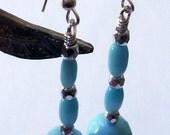 Turquoise Pendulum Earrings --FREE SHIPPING --