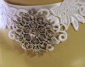 Viintage Lace Necklace   Snowflake
