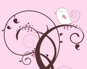 Nursery Art Print SET - Pleasantly Pink