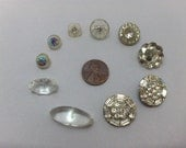 Glass and Rhinestone Vintage Buttons VB172