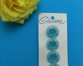 Sky Blue Moonglow Buttons Western Germany VB201